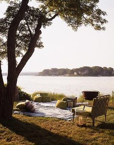 Definitely gonna take Josh on a picnic date at the lake this spring/summer :) cute idea!