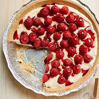 peanut butter and berry pie