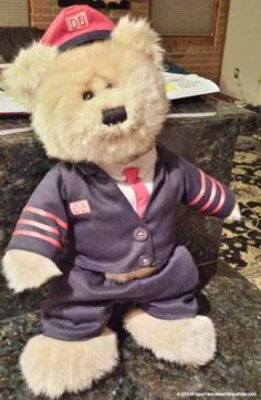 Dieter making sure his uniform look spiffy for a day of being a conductor at Teddy & Friends: Perfect travel buddies Teddy Bear, Adventure, Friends, Travel, Animals, Amigos, Viajes, Animales, Animaux