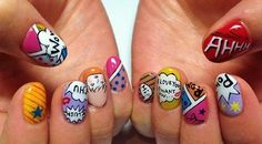 Nails - Comics #nailart