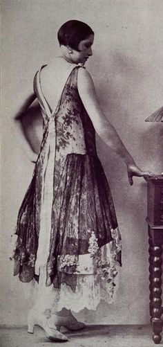 "Les Modes (Paris) November 1927 ""Serenade"" Robe du Soir par Boue Soeurs"