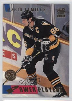 1994-95 Topps Stadium Club Stanley Cup Super Team #60 Mario Lemieux Hockey Card #PittsburghPenguins
