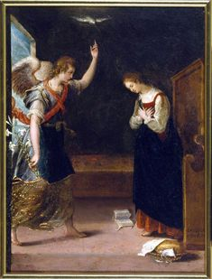 The Annunciation. Oil on copper, by Lavinia Fontana (1552-1614), Walters Art Museum
