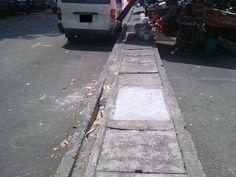 Lubang Besar di Lorong Delima 6 AKHIRNYA diTUTUP !!  Terima kasih JKR !!!