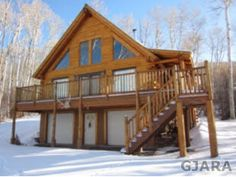 $339,900 Log Cabin/House in Collbran, CO.  67796 Shady Lane 3 Bed 2 Bath, 2436 Sq Ft .68 Acres