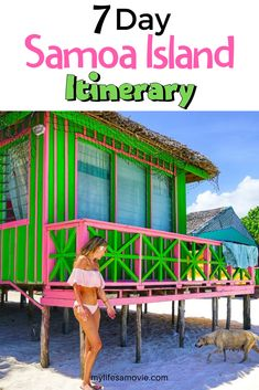 A 7 day Samoa island itinerary to help you plan your entire vacation. #travelplanning #vacation #islandtovisit #samoaisland