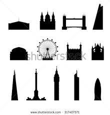 Image result for london skyline silhouette shard