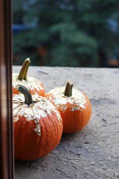 Gold Leaf Pumpkins