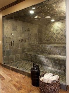 Inspiració: Spa, dutxa escocesa-sauna de vapor. #luxurygym