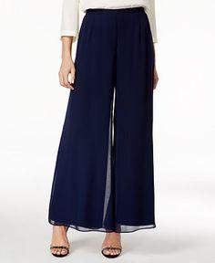 MSK Wide-Leg Chiffon Pants - Pants & Capris - Women - Macy's