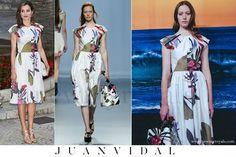 Queen Letizia wore Juan Vidal Dress - Spring / Summer 2016 Collection www.newmyroyals.com