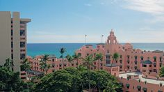 Of all Hawaii hotels, only The Pink Palace of the Pacific has remained an icon of luxury and romance for over 75 years. A Waikiki landmark recognized. Hawaii Hotels, Honolulu Oahu, Waikiki Beach, Hawaii Vacation, Oahu Hawaii, Beach Hotels, Hawaii Travel, Hawaii Pics