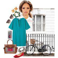 Blue Vintage by roxanna-kingston on Polyvore featuring Toast, Vintage Addiction, Vera Bradley, Burberry, Linda Farrow, vintage and summerdress