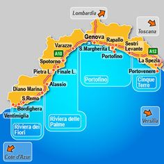 Italian Riviera Map and Guide Where to Go in Liguria  Tourist