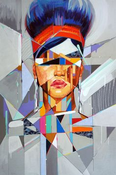 """""""Rodriguez is known for two kinds of portrait styles that he calls, """"Topographical Portraiture"""" and """"Type Faces"""". Topographical Portraits, are made by stylizing a portrait with topographical lines and shapes in a similar manner to those found through images on geographic maps. Type Faces, incorporate typography and portraiture. Rodriguez developed these techniques in order to explore his interest in social, historic, and cultural hybridity."""" See more of his work below."""