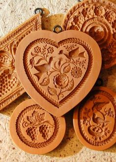 swiss springerle cookie molds  lg heart