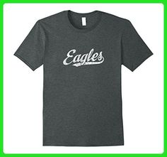 Mens Eagles Mascot T Shirt Vintage Sports Name Tee Design XL Dark Heather - Sports shirts (*Amazon Partner-Link)