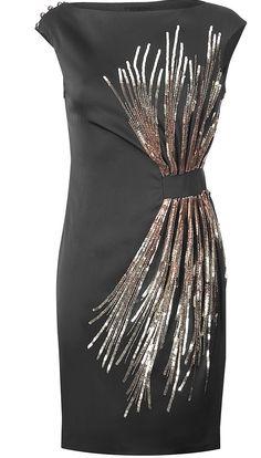 Maxime Simoens Black Sequined Dress