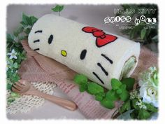 Hello kitty roll cake