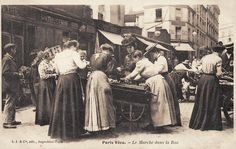 Le Marché dans la rue 1900