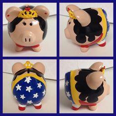 Wonder Woman piggy bank