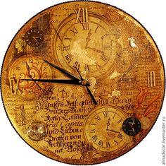 Купить Старинные часы - золотой, часы настенные, часы интерьерные, часы для дома