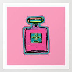 Parfum Pop Art Bottle Art Print by Gabriel J Galván - $22.88
