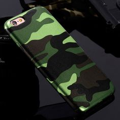 iPhone 7 Cases 5S 5 Military Camouflage Men Leather Cover Case