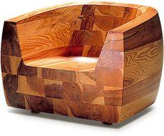 'Kashiwado Chair ' Living Chair, Designed by Isamu Kenmochi for Tendo Mokko