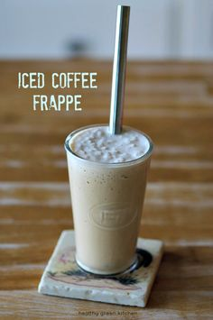 Iced Coffee Frappe | Healthy Green Kitchen (A healthier, homemade version of those blended iced coffee drinks from popular coffee shops!)