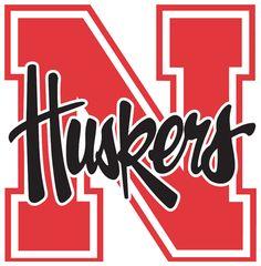 Nebraska Cornhuskers Logo - Huskers in black on a red N (SportsLogos.Net)