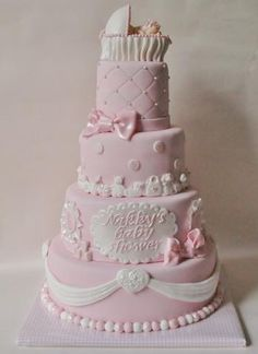 Pink Baby Shower Cake!!! OMG!!! Kenny and I are so doing this!!!