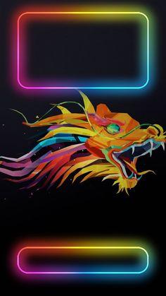 ↑↑TAP AND GET THE FREE APP! Lockscreens Art Creative Dragon Fire Multicolour Black HD iPhone 6 Lock Screen Paper flowers diy Iphone wallpaper Paper flowers