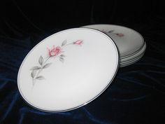 Noritake Rosemarie Salad Plates(4) Pattern 6044. $12.00, via Etsy.
