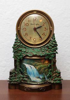 Master Crafters Animated Waterfall Clock