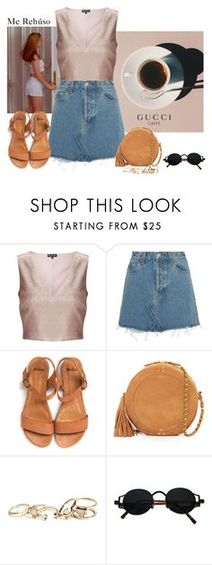 """""""Me Rehúso"""" by sinddie ❤ liked on Polyvore featuring Prada, Miss Selfridge, RE/DONE, Jérôme Dreyfuss and GUESS"""