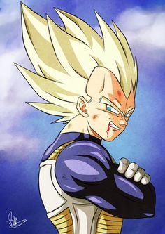 Dragon Ball Z : Super Saiyan Vegeta.