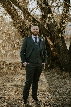 Grey suit for grooms with purple tie accent color. To see more of this fall wedding visit Teller of Tales Photography. Groom Attire, Groom And Groomsmen, Wedding Songs, Wedding Couples, Advice For Bride, Family Presents, Stone Barns, Father Daughter Dance, Fall Wedding