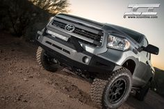 Magnum Bumper for the 2014 Toyota Tundra (pictured with RT-Series Light Bar). Lifted Tundra, Tundra Truck, Toyota Sequioa, 2016 Toyota Tundra, Toyota Trucks, Bar Lighting, Monster Trucks, Toyota Cars