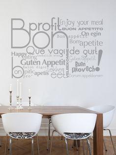 vinilo tipografico para comedor o cocina