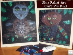 How To Make a Glue Relief Art Craft For Kids http://mamato5blessings.com/2014/01/glue-relief-art-craft-for-kids-learn-link-with-linky/