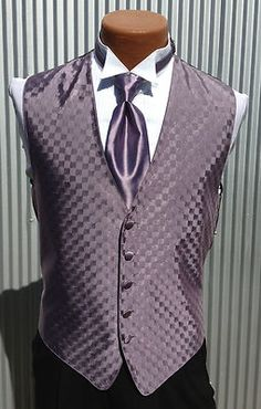 Men's Heather Purple Tuxedo Vest Tie or Bow Tie Set All Sizes Free Shipping   eBay