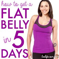 "How To Eat For a Flat Belly in 5 Days! Subscribe to her news letter and recieve her 7 day detox and yoga workout routine absolutely FREE!! ""Im on day two and I feel fabulous, I haven't felt like this since before I had my baby"" -(ChristieGomezRiojas)"