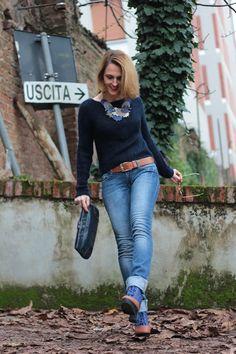 Blue on Blue style Margaret Dallospedale, Fashion Blogger, Lifestyle #kissmylook