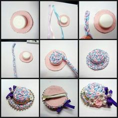 How to Make Woven Ribbon Hat from Plastic Cap