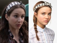 Troian Bellisario as Spencer Hastings wore this bicycle print headband in Pretty Little Liars, episode 4.05, Gamma Zeta Die. Urban Outfitters Kerchief Headwrap - $14 Worn with: Paige Denim Jeans and Burberry Plaid Shirt