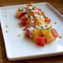 Try chef Giorgio Rapicavoli's artistic take on a summer tomato salad.