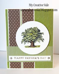 I have used Soft Suede and Old Olive for my colors.  I stamped the tree image with Staz On, and I have colored in with Pear Pizzazz and Old Olive.