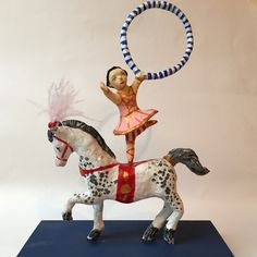 My papier mache figures are in my shop today. Tumbling Tina on her pony and Betty and Mabel, the Siamese Twins, are two of my circus sideshow-inspired figures. Look out for more coming soon... Xx