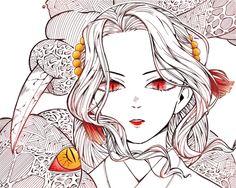 Demon Slayer, Slayer Anime, Character Concept, Character Art, Cartoon Drawings, Art Drawings, Vocaloid, Geisha Art, Amazing Drawings